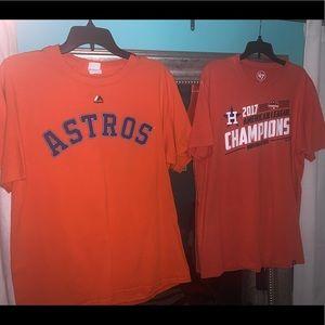 Nike Shirts - 2 Houston Astros T shirts . 1 Large 1 small men's
